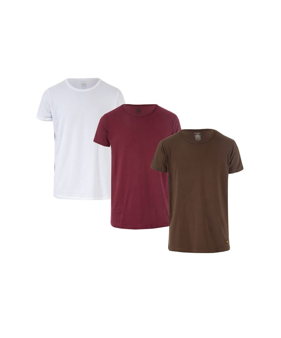 Image for Men's Lyle And Scott Maxwell 3 Pack T-Shirts in White
