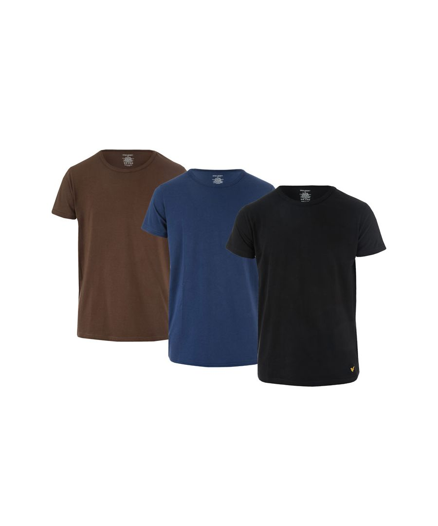Image for Men's Lyle And Scott Maxwell 3 Pack T-Shirts in Black