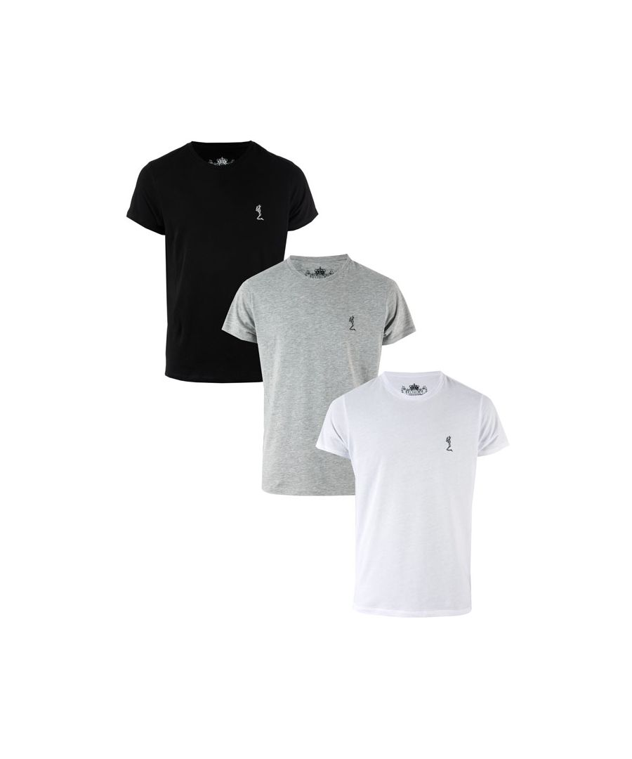 Image for Men's Religion 3 Pack Core T-Shirts in Black Grey White