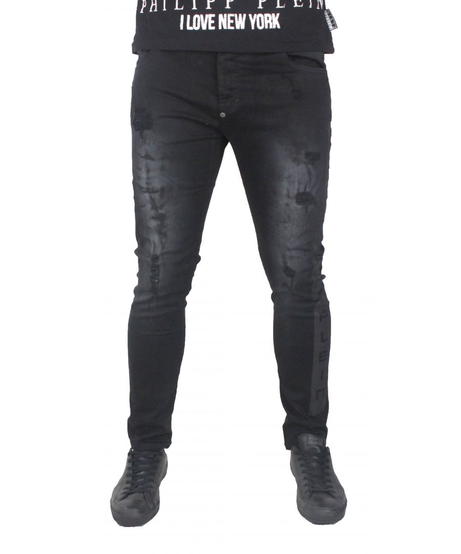 Image for Philipp Plein MDT0415 Jorogumu 02ON Black Oni Jeans