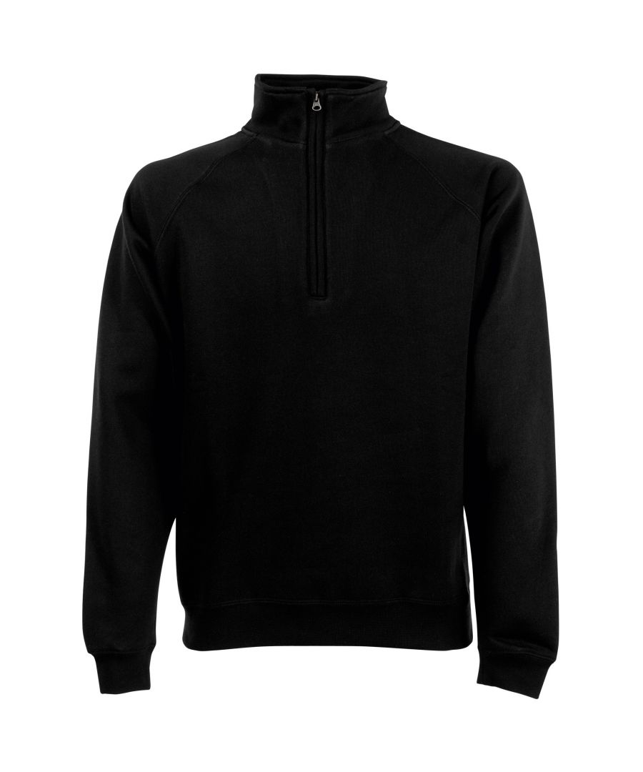 Image for Fruit Of The Loom Mens Zip Neck Sweatshirt Top