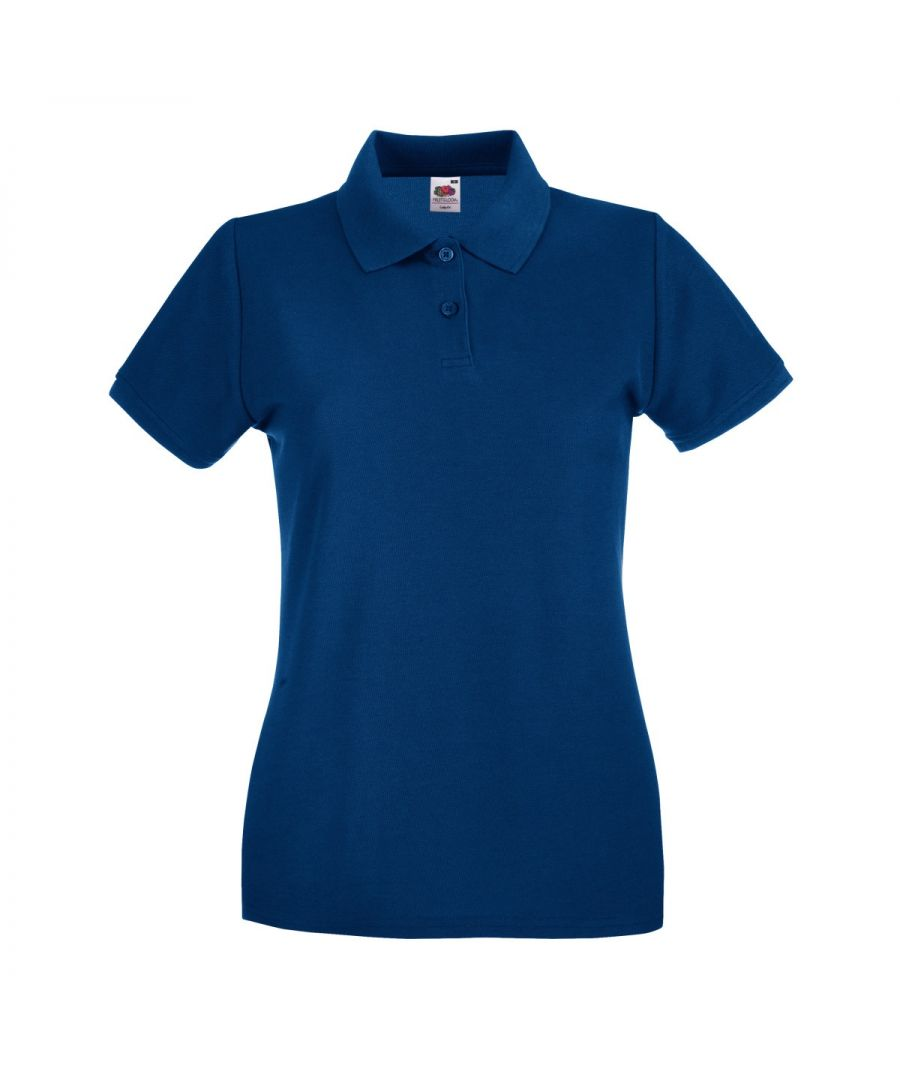 Image for Fruit Of The Loom Ladies Lady-Fit Premium Short Sleeve Polo Shirt