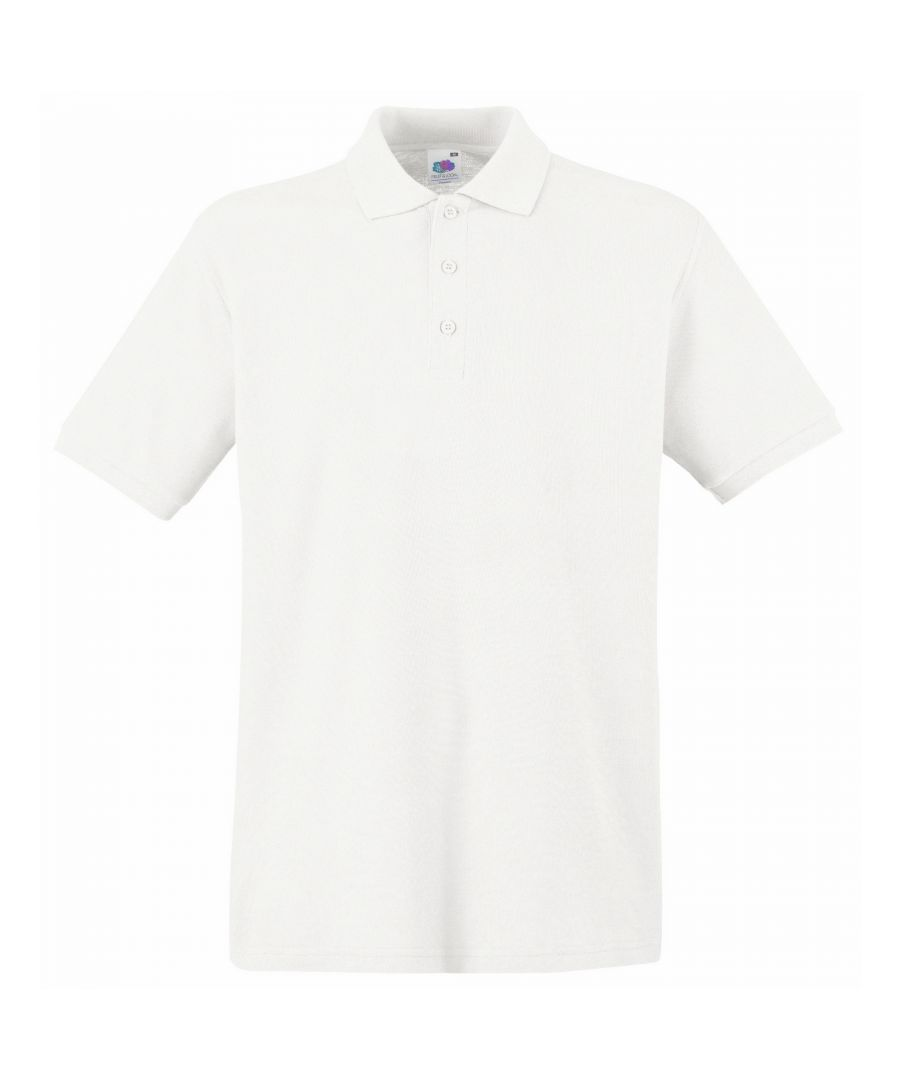 Image for Fruit Of The Loom Premium Mens Short Sleeve Polo Shirt