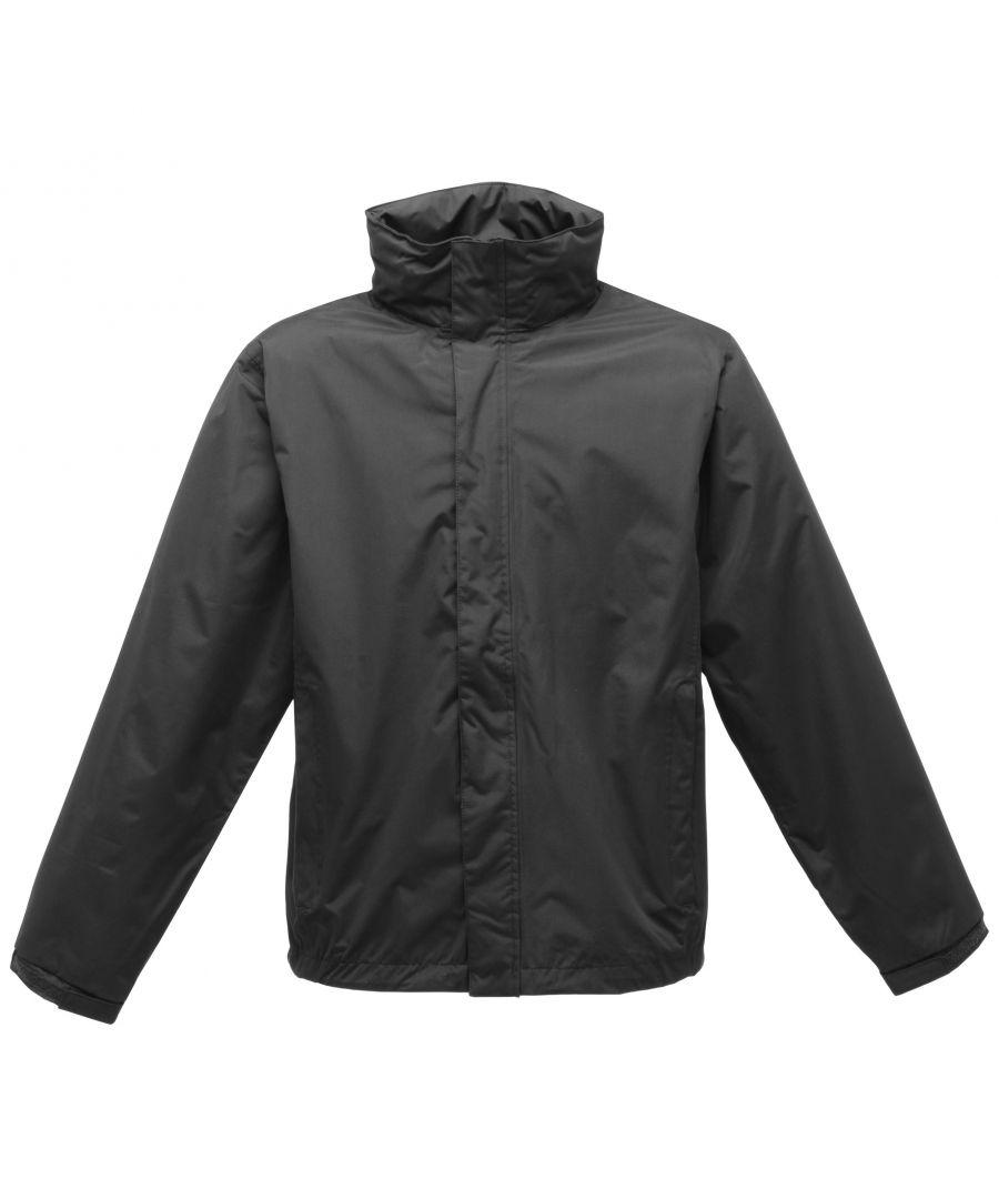 Image for Regatta Mens Pace II Lightweight Waterproof Jacket (Black/Black)