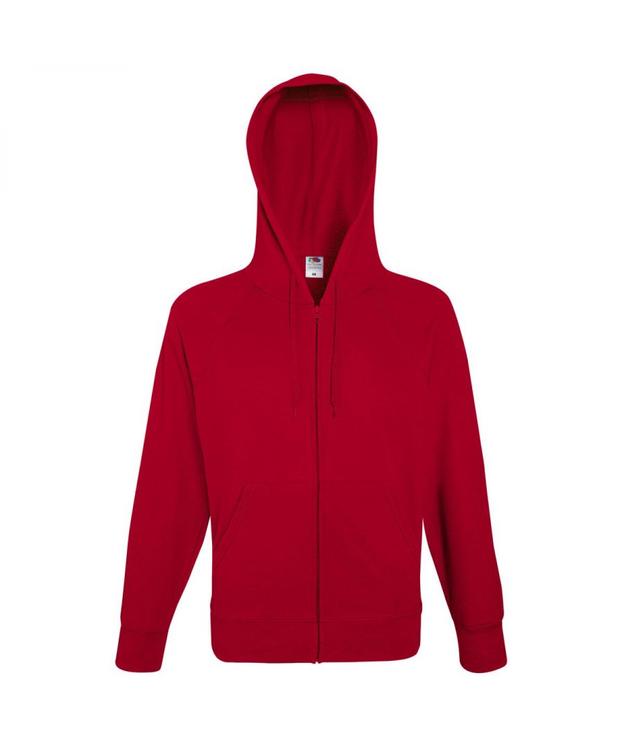 Image for Fruit Of The Loom Mens Lightweight Full Zip Jacket / Hoodie