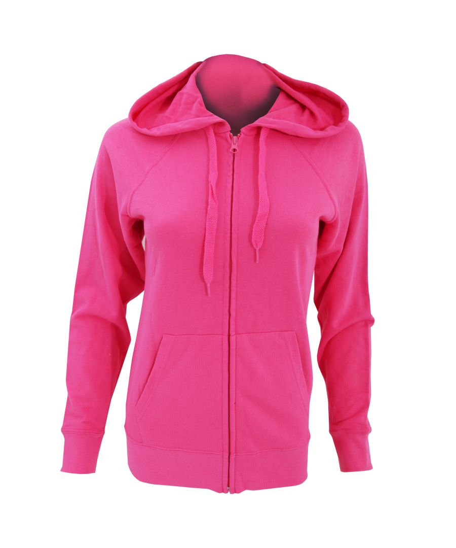 Image for Fruit Of The Loom Ladies Fitted Lightweight Hooded Sweatshirts Jacket / Zoodie (240 GSM)