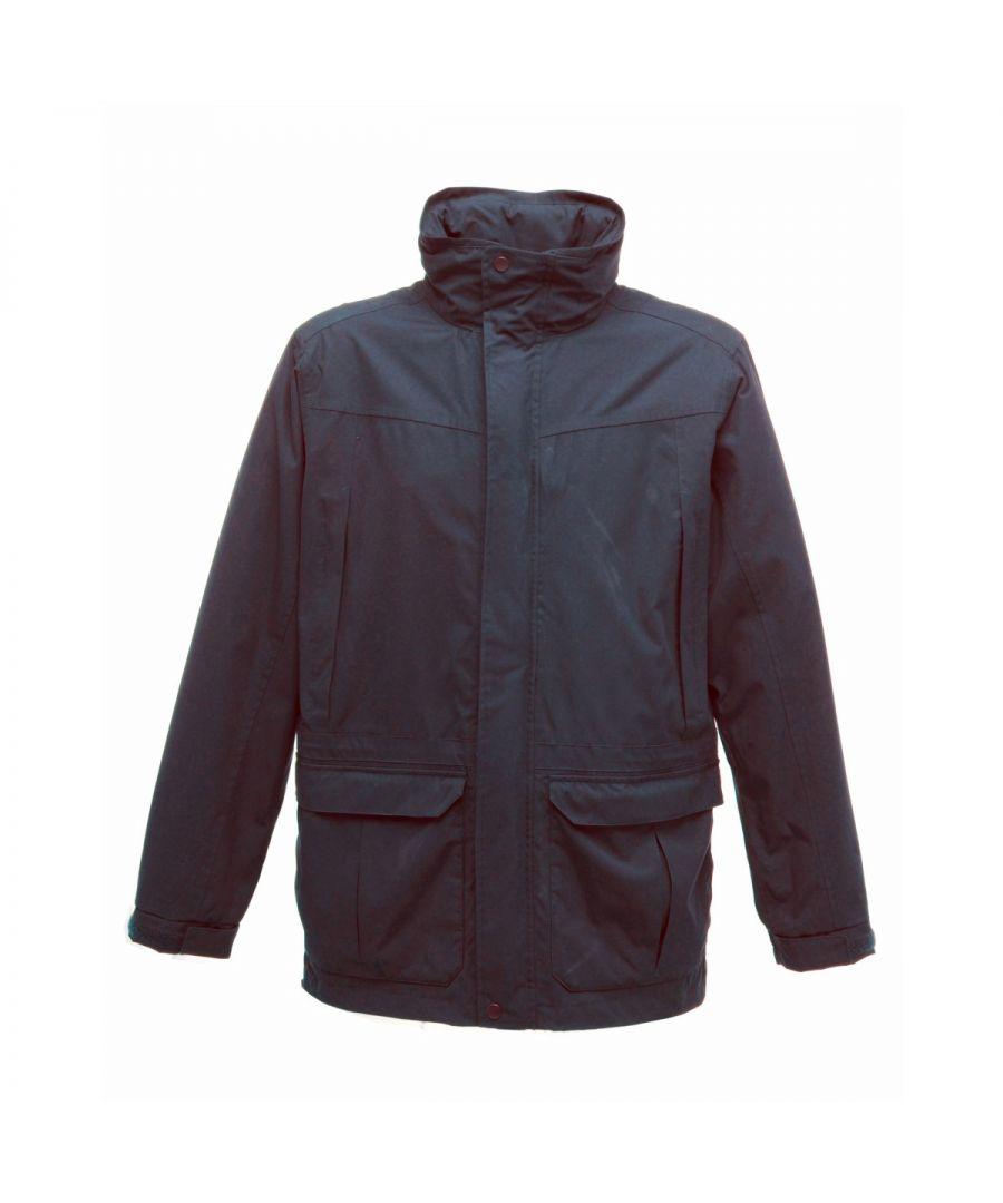 Image for Regatta Mens Vertex III Waterproof Breathable Jacket (Navy Blue)