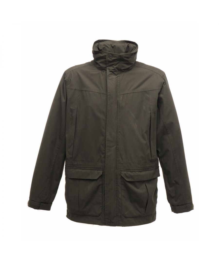 Image for Regatta Mens Vertex III Waterproof Breathable Jacket (Dark Olive)