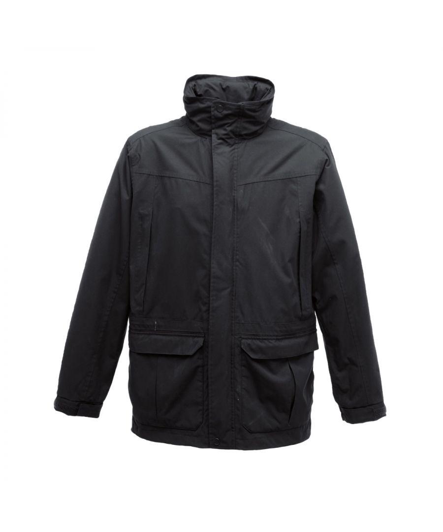 Image for Regatta Mens Vertex III Waterproof Breathable Jacket (Black)