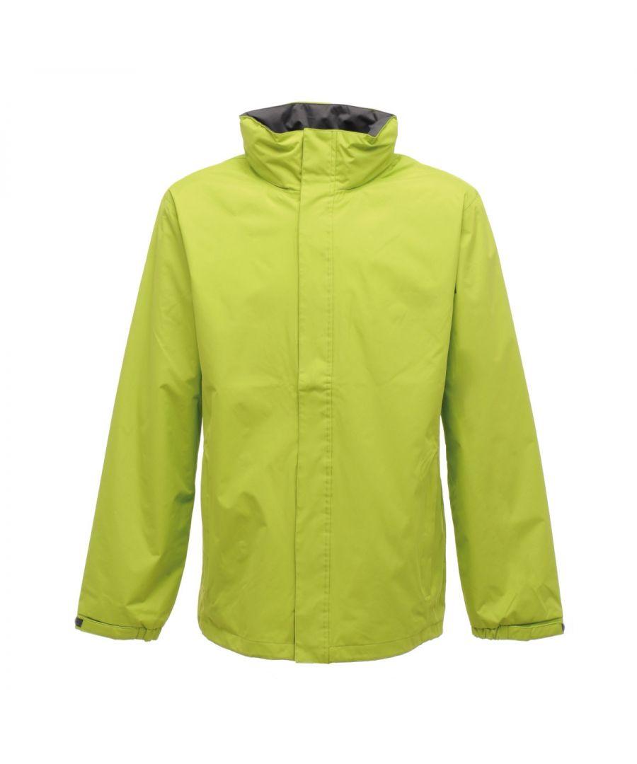 Image for Regatta Mens Standout Ardmore Jacket (Waterproof & Windproof) (Key Lime/Seal Grey)