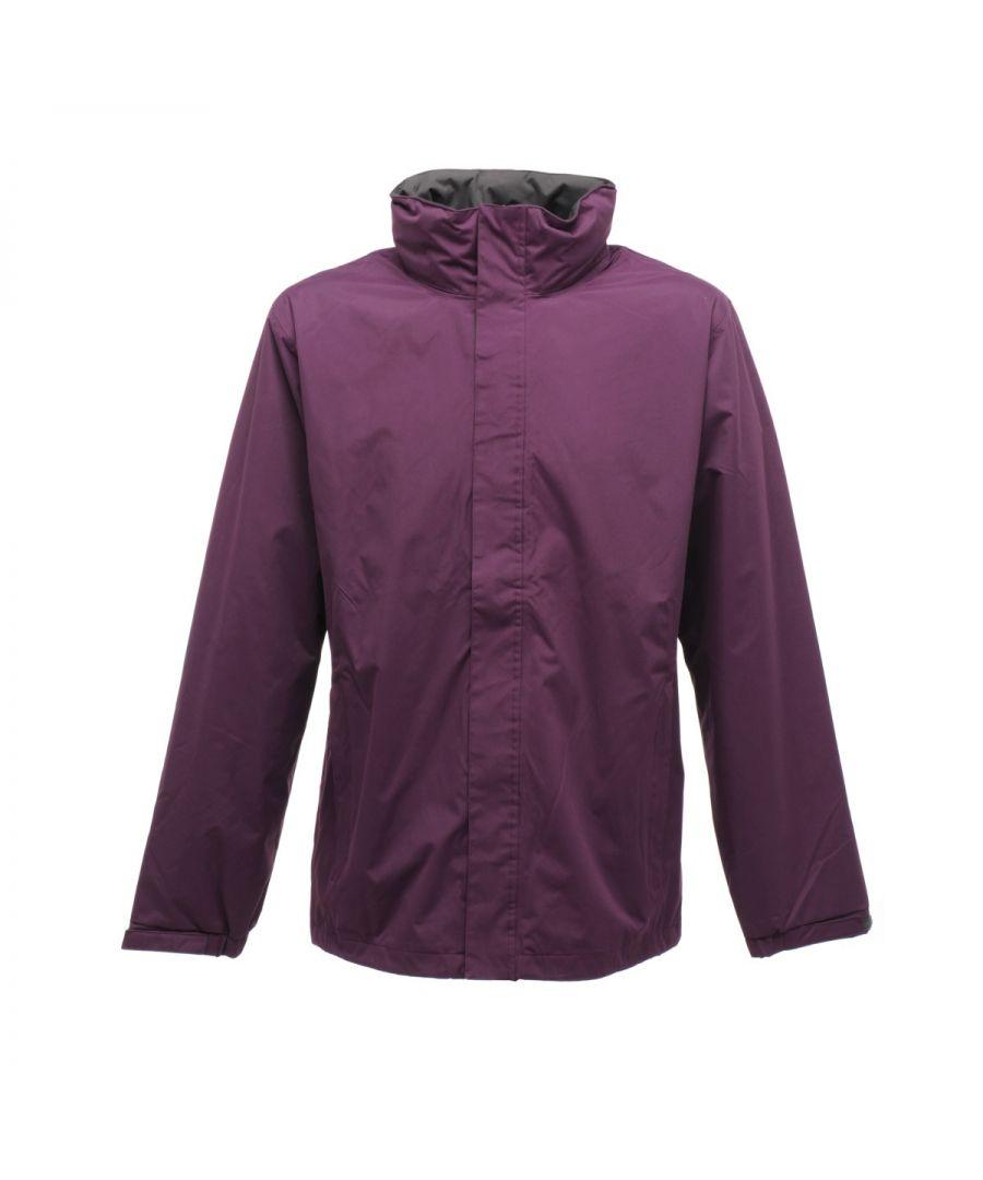 Image for Regatta Mens Standout Ardmore Jacket (Waterproof & Windproof) (Majestic Purple/Seal Grey)