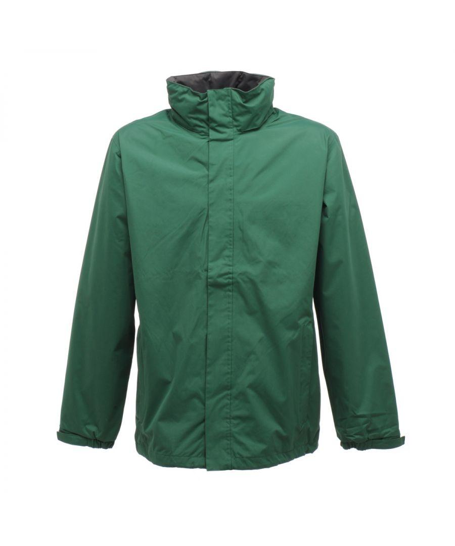 Image for Regatta Mens Standout Ardmore Jacket (Waterproof & Windproof) (Bottle Green/Seal Grey)