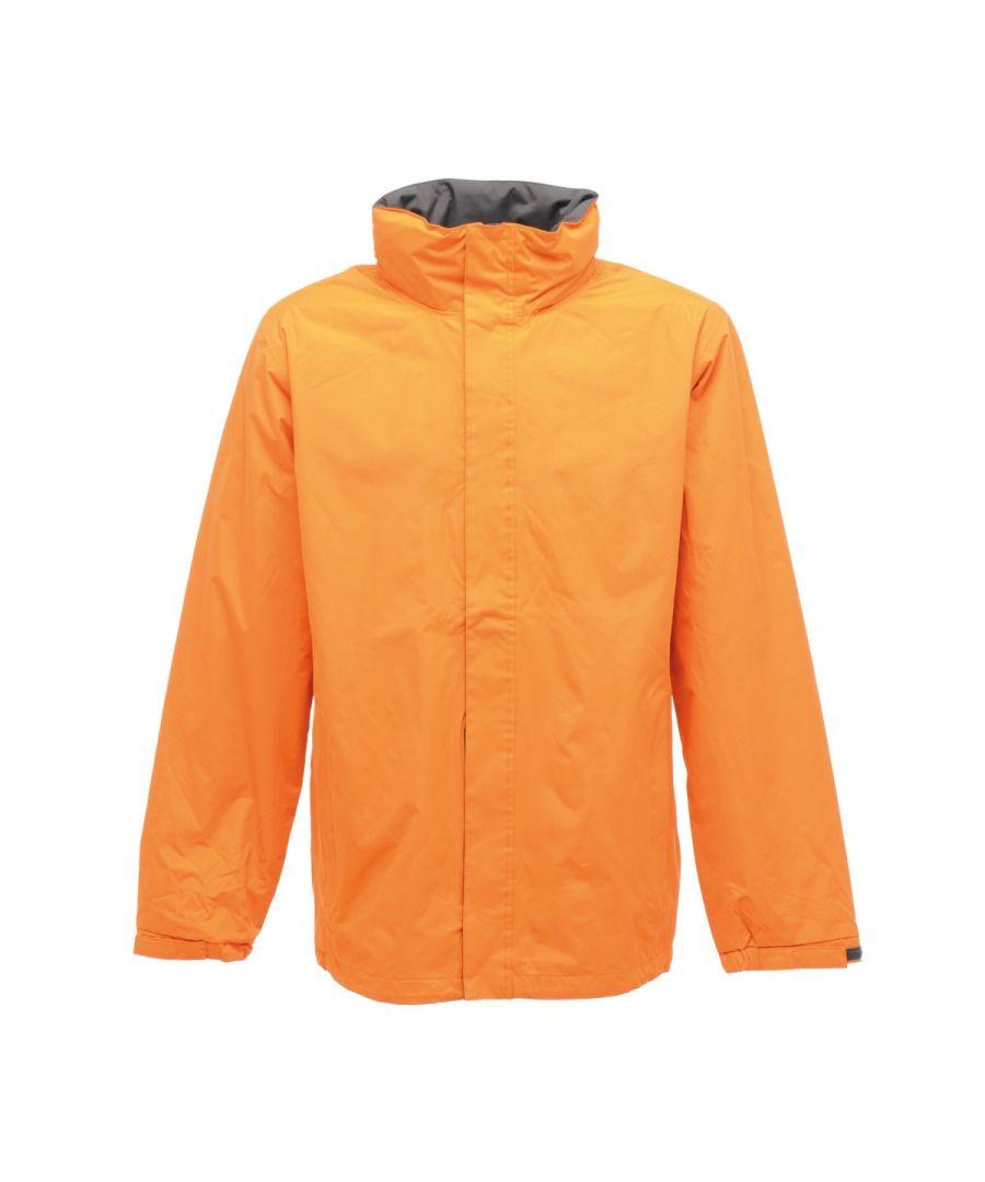 Image for Regatta Mens Standout Ardmore Jacket (Waterproof & Windproof) (Sun Orange/Seal Grey)
