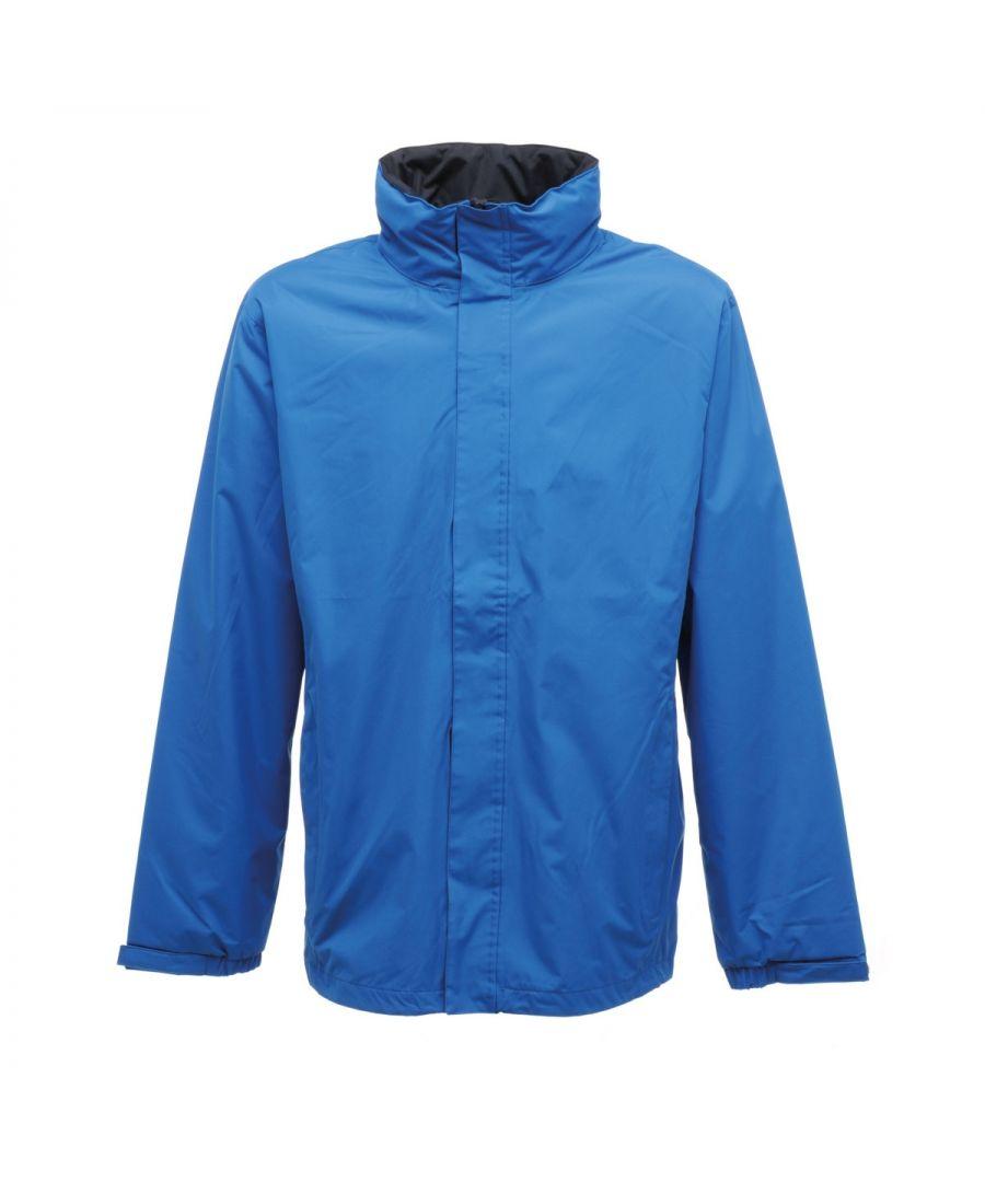 Image for Regatta Mens Standout Ardmore Jacket (Waterproof & Windproof) (Oxford Blue/Seal Grey)
