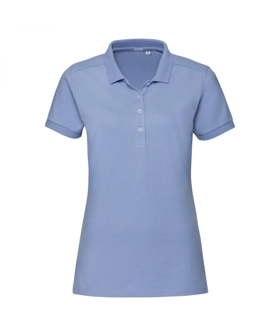 Image for Russell Womens/Ladies Stretch Short Sleeve Polo Shirt (Sky Blue)