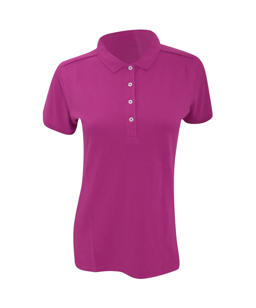 Image for Russell Womens/Ladies Stretch Short Sleeve Polo Shirt (Fuchsia)