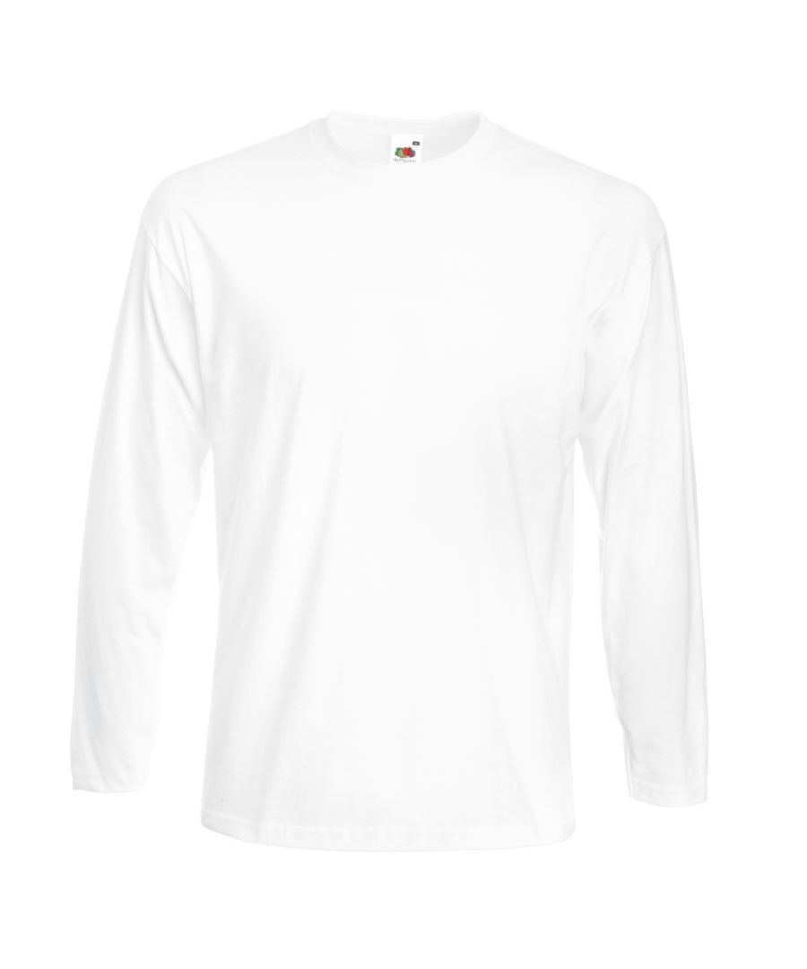 Image for Fruit Of The Loom Mens Super Premium Long Sleeve Crew Neck T-Shirt