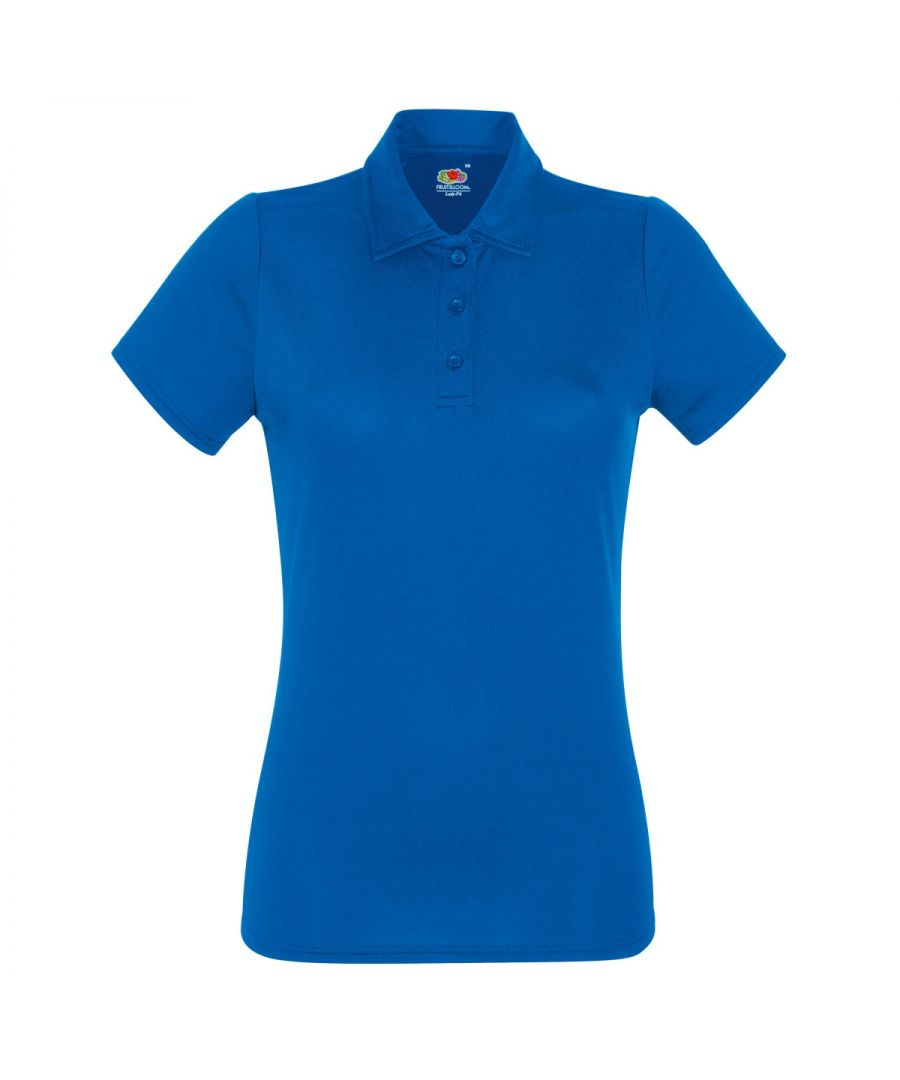 Image for Fruit Of The Loom Womens/Ladies Short Sleeve Moisture Wicking Performance Polo Shirt