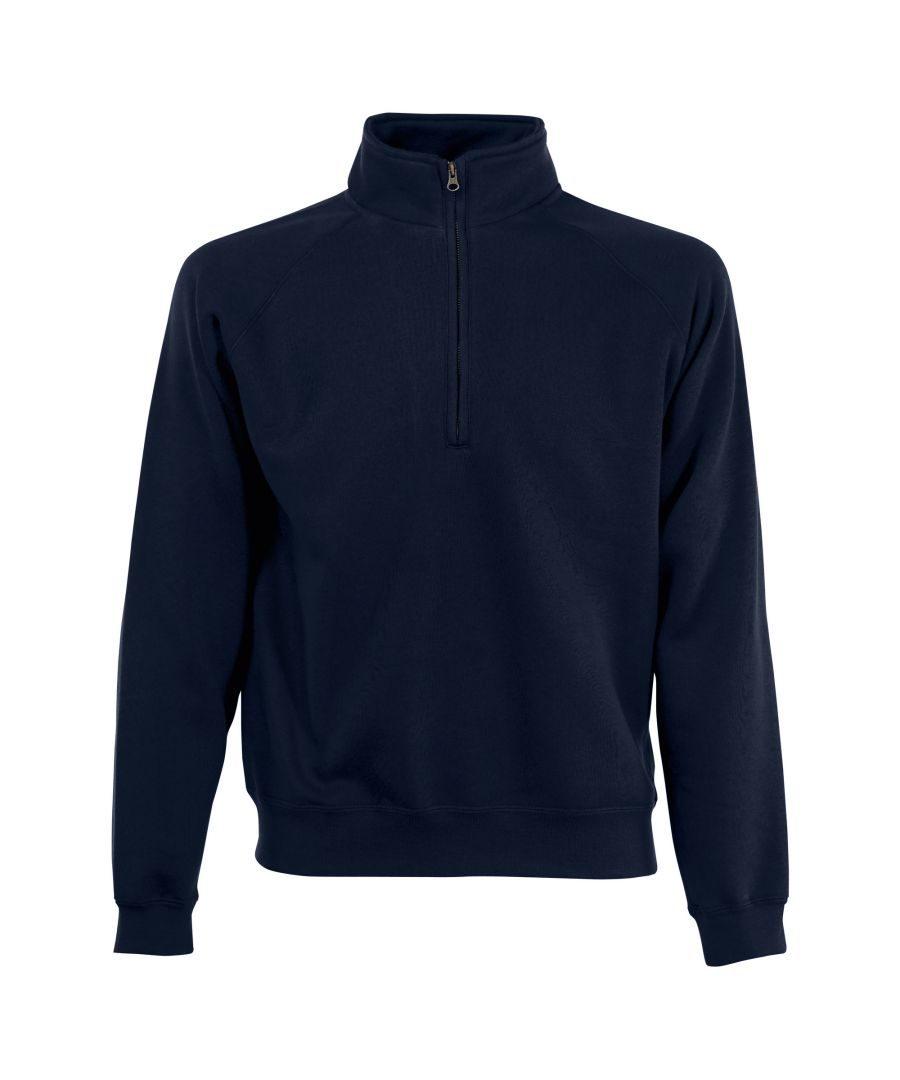 Image for Fruit Of The Loom Mens Zip Neck Sweatshirt