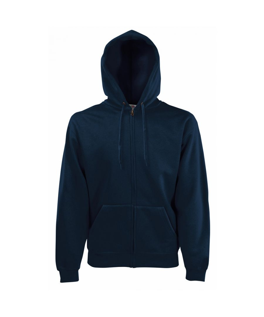 Image for Fruit Of The Loom Mens Zip Through Hooded Sweatshirt / Hoodie