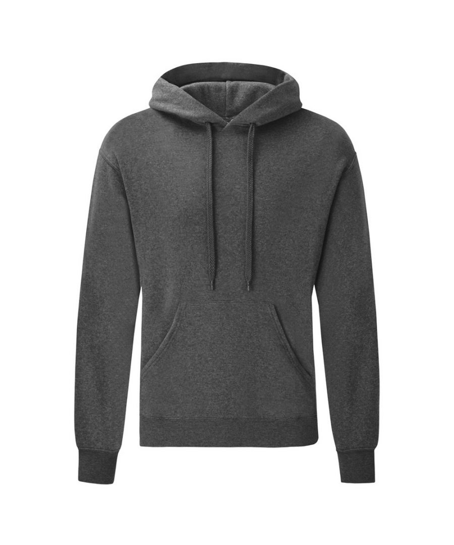 Image for Fruit Of The Loom Mens Hooded Sweatshirt / Hoodie