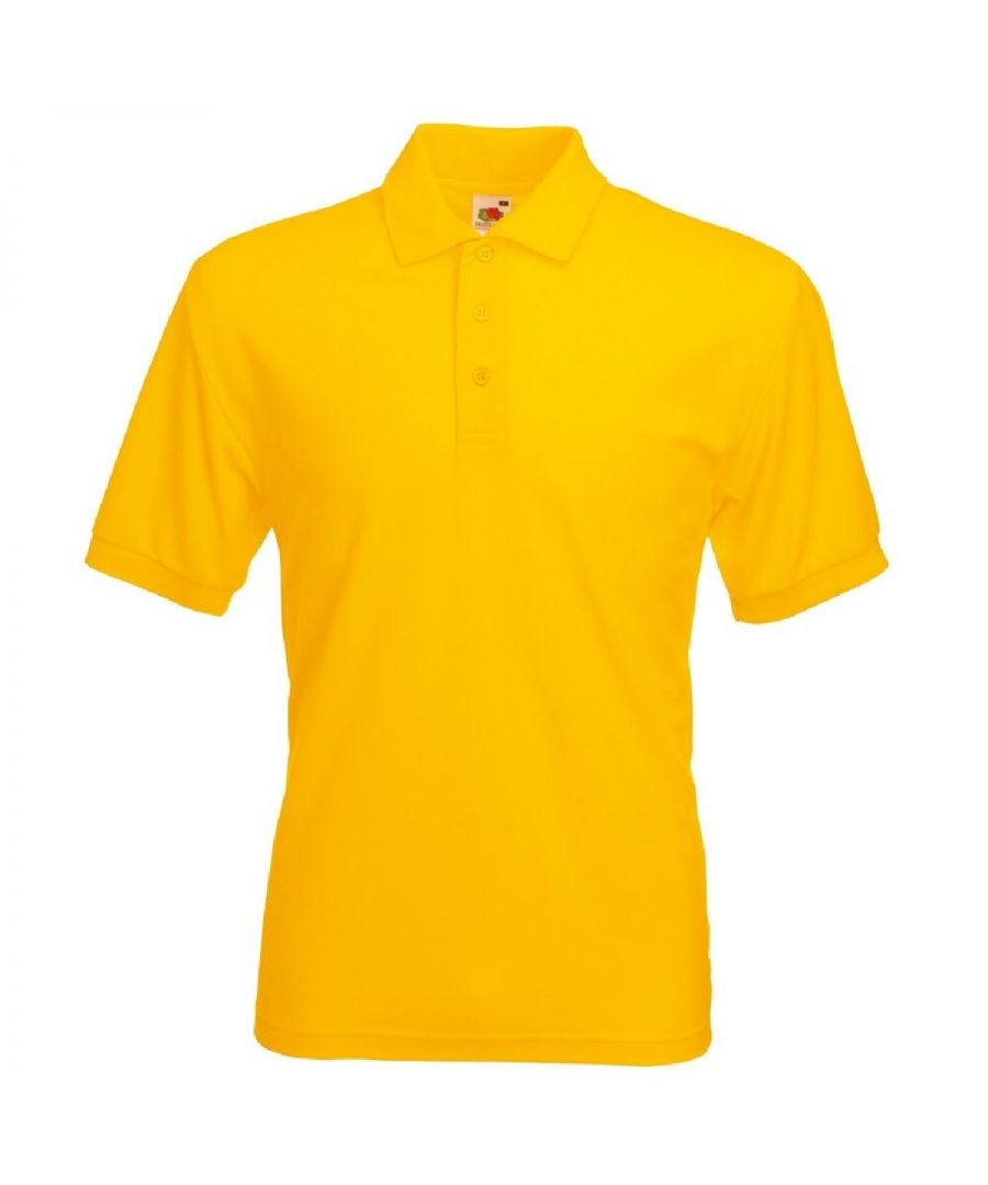 Image for Fruit Of The Loom Mens 65/35 Heavyweight Pique Short Sleeve Polo Shirt