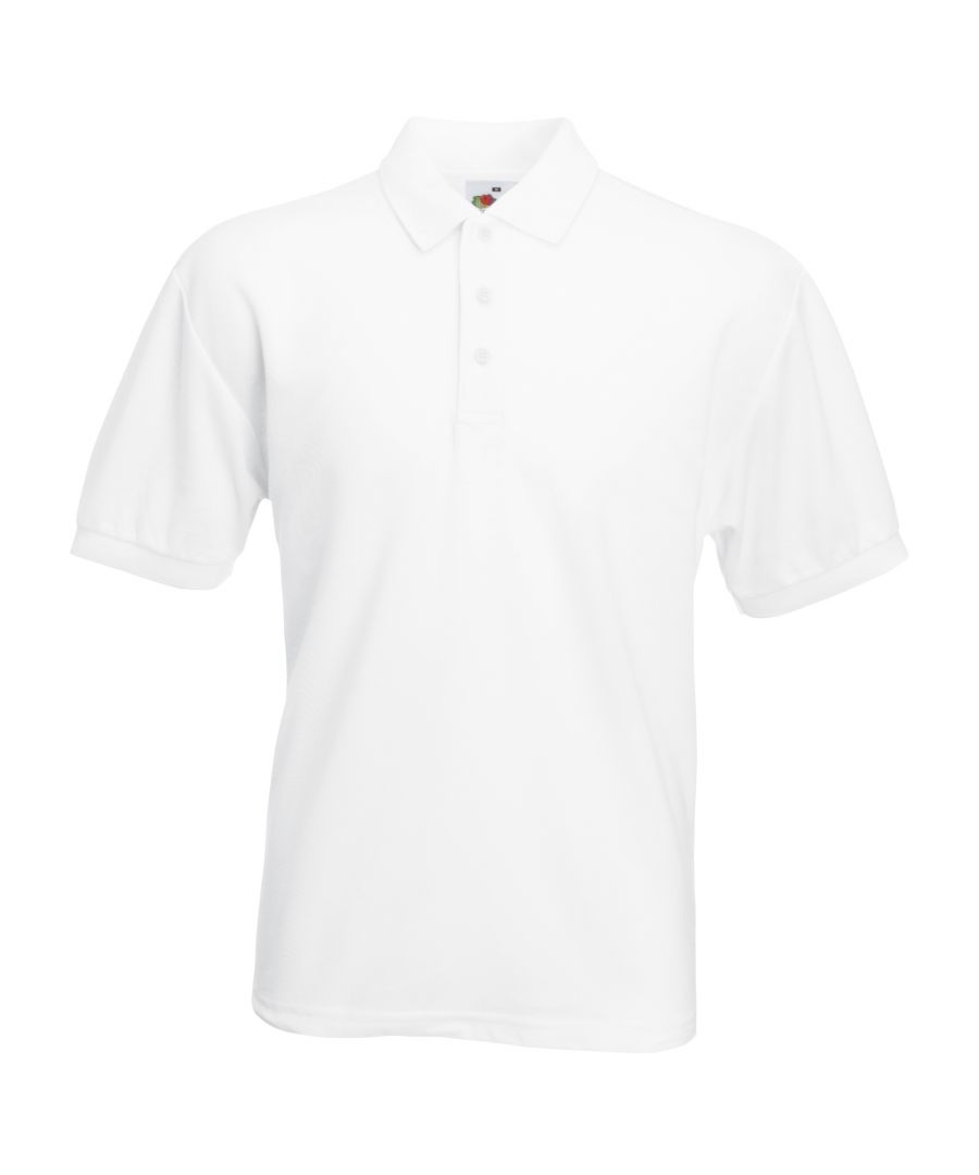 Image for Fruit Of The Loom Mens 65/35 Pique Short Sleeve Polo Shirt