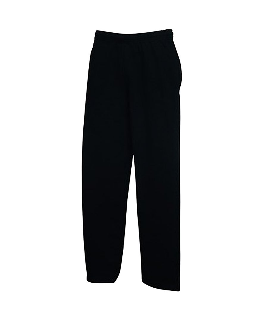 Image for Fruit Of The Loom Mens Open Hem Jog Pants / Jogging Bottoms