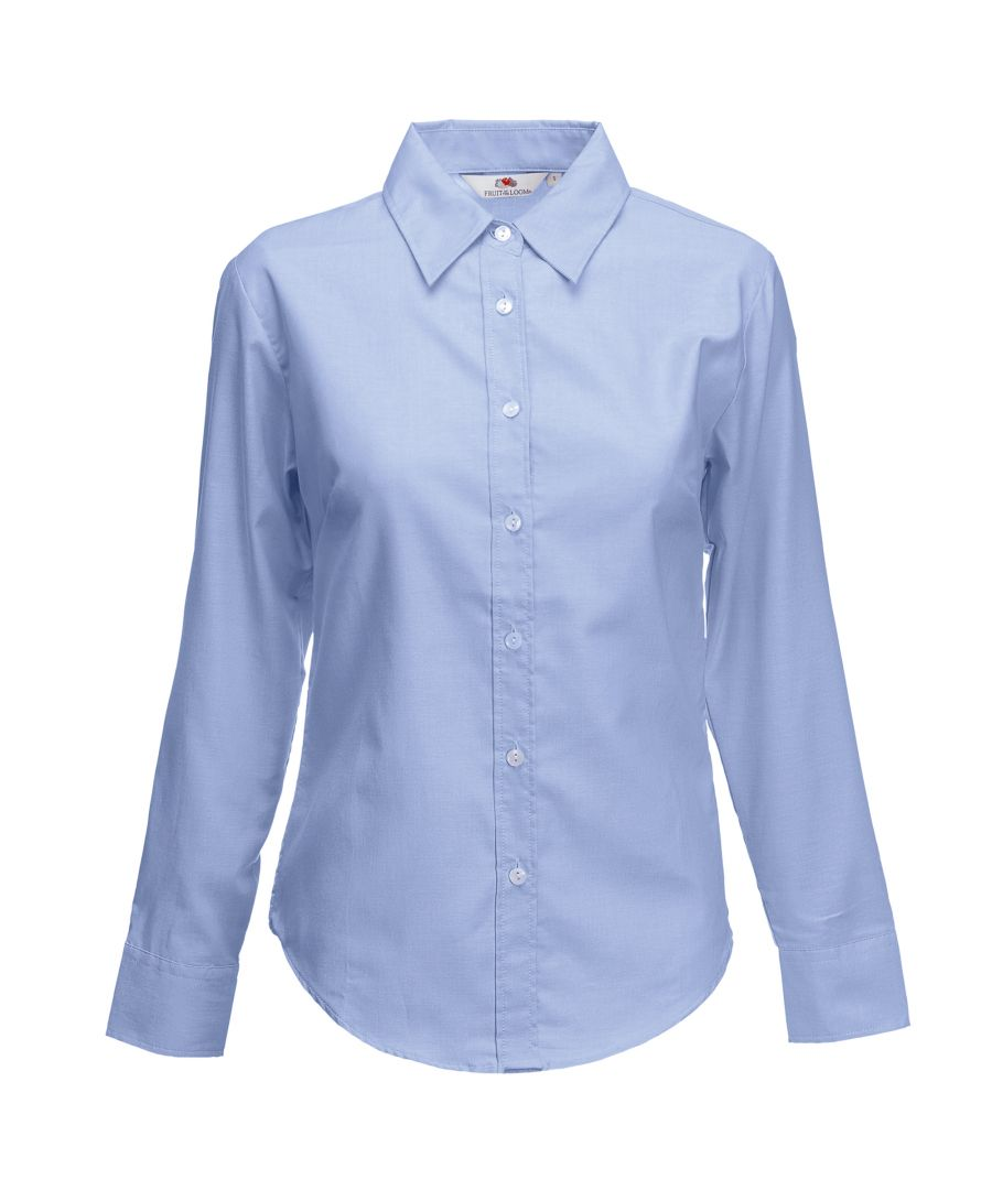 Image for Fruit Of The Loom Ladies Lady-Fit Long Sleeve Oxford Shirt