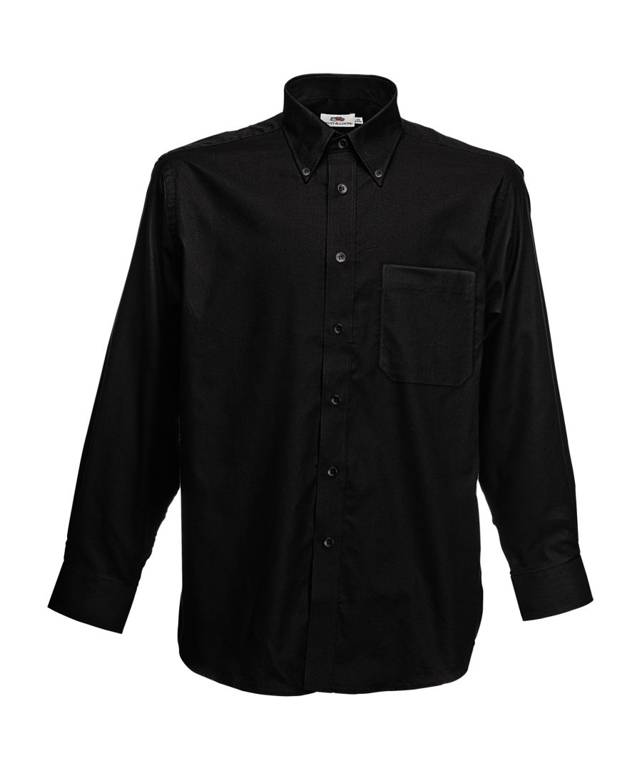 Image for Fruit Of The Loom Mens Long Sleeve Oxford Shirt