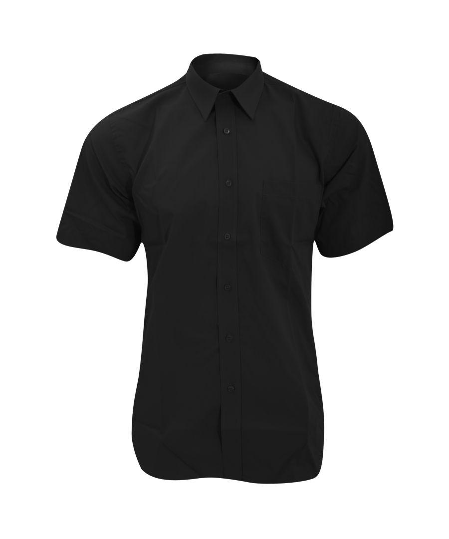 Image for Fruit Of The Loom Mens Short Sleeve Poplin Shirt