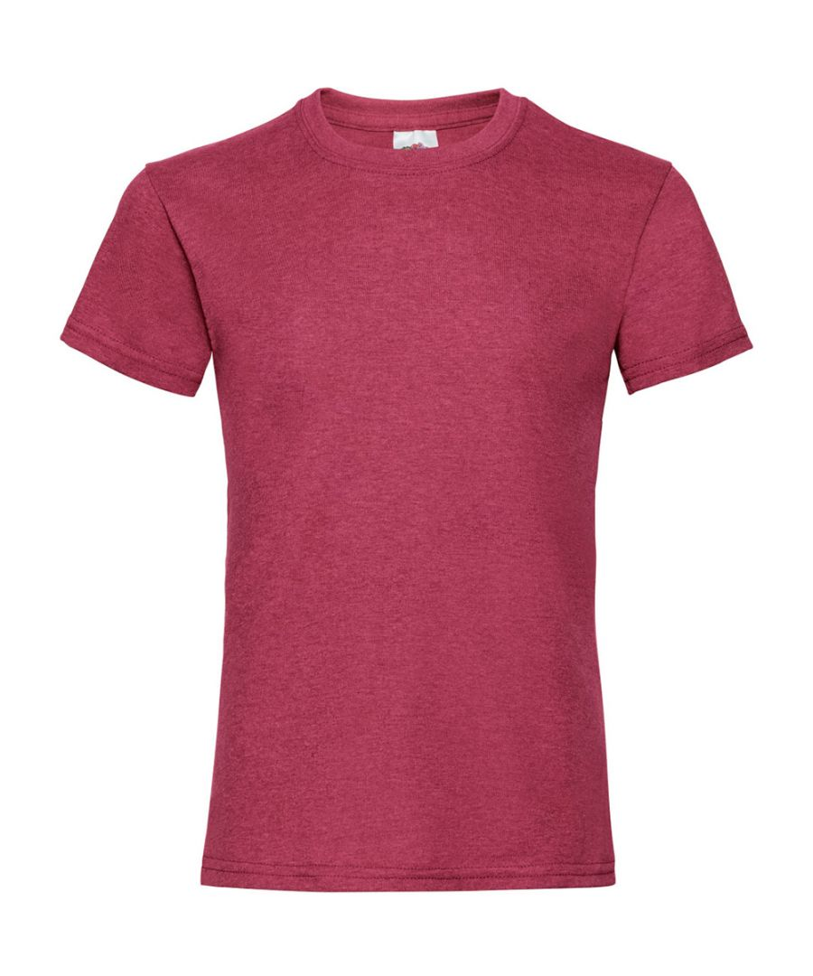 Image for Fruit Of The Loom Girls Childrens Valueweight Short Sleeve T-Shirt (Pack of 5) (Vintage Heather Red)