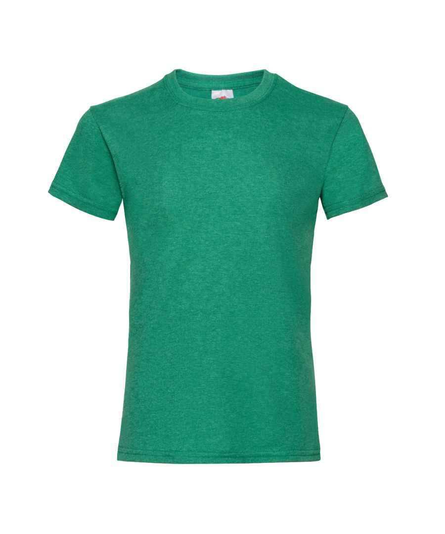 Image for Fruit Of The Loom Girls Childrens Valueweight Short Sleeve T-Shirt (Pack of 5) (Retro Heather Green)