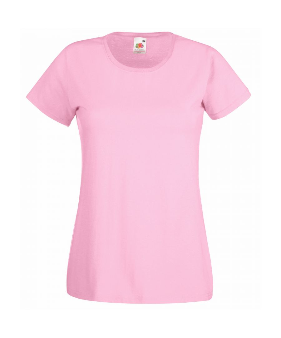 Image for Fruit Of The Loom Ladies/Womens Lady-Fit Valueweight Short Sleeve T-Shirt (Pack Of 5) (Light Pink)