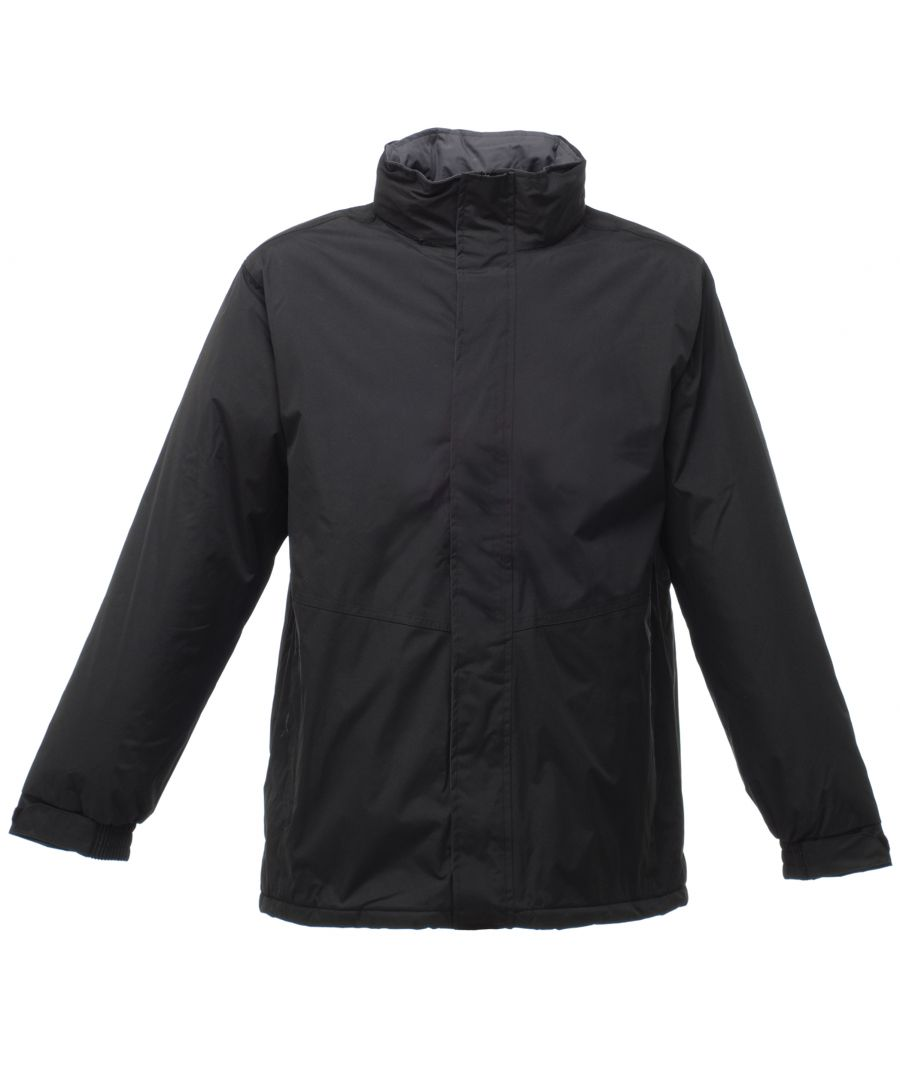 Image for Regatta Mens Beauford Waterproof Windproof Jacket (Thermoguard Insulation) (Black)