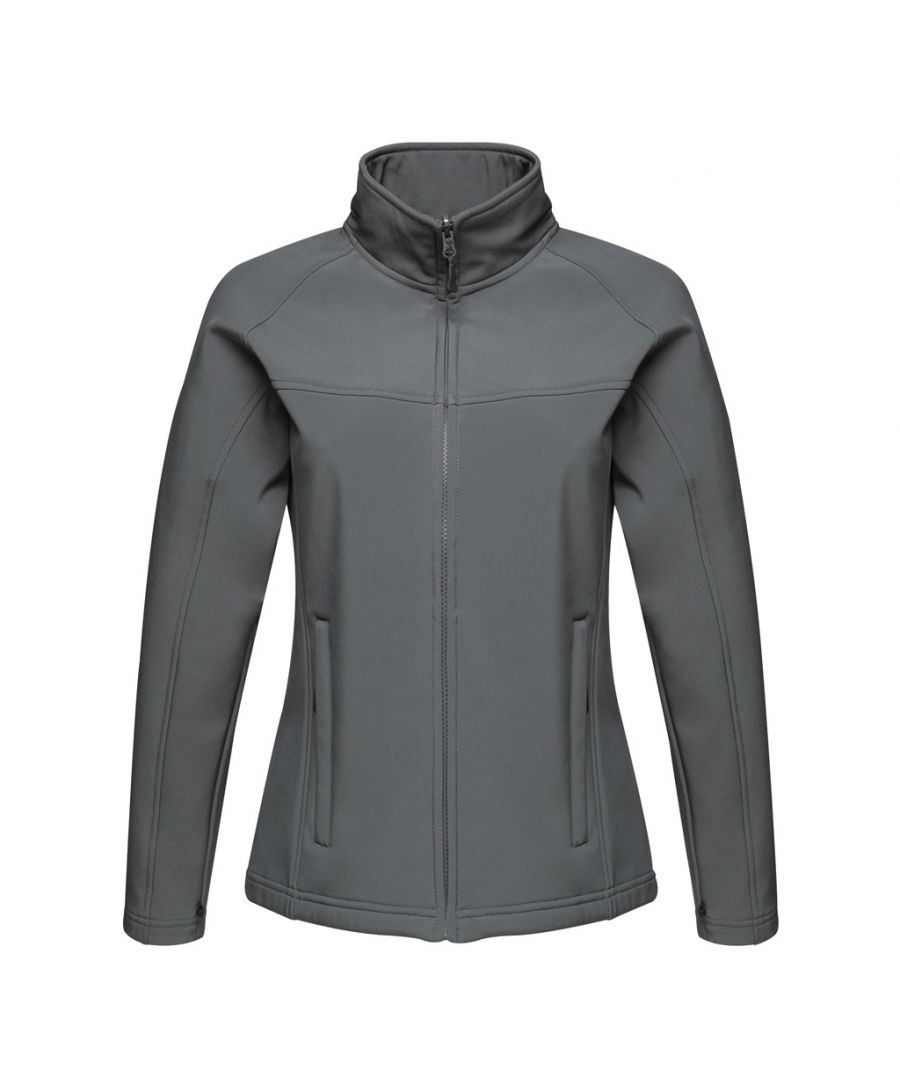 Image for Regatta Ladies Uproar Softshell Wind Resistant Jacket (Seal Grey)