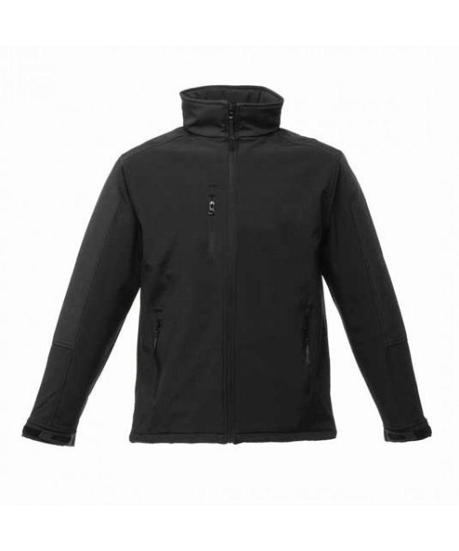 Image for Regatta Mens Hydroforce 3-layer Membrane Waterproof Breathable Softshell Jackets (Black/Black)