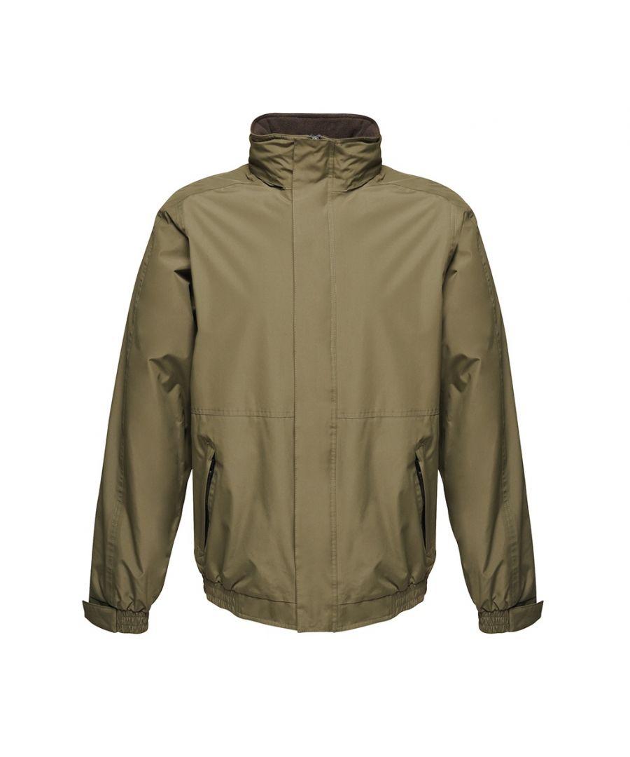Image for Regatta Dover Waterproof Windproof Jacket (Thermo-Guard Insulation) (Dark Khaki/Black)
