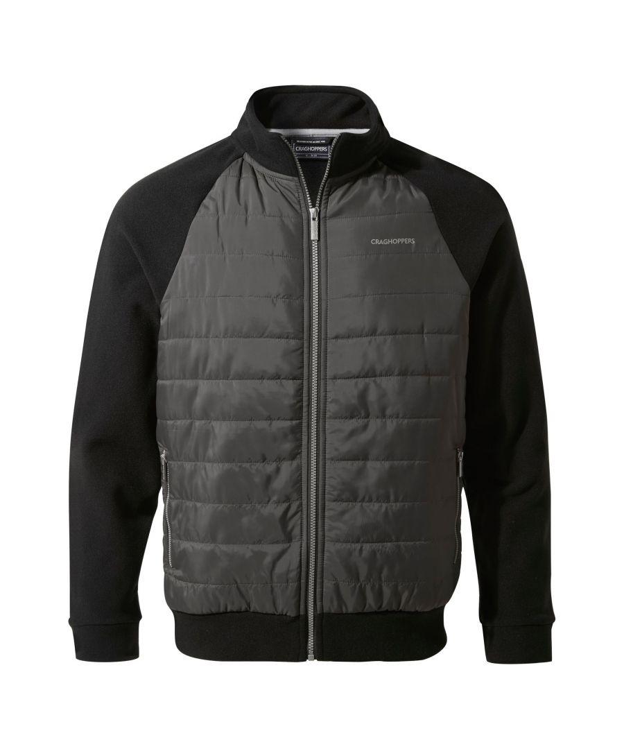 Image for Craghoppers Mens Spence Hybrid Jacket (Black/Black Pepper)