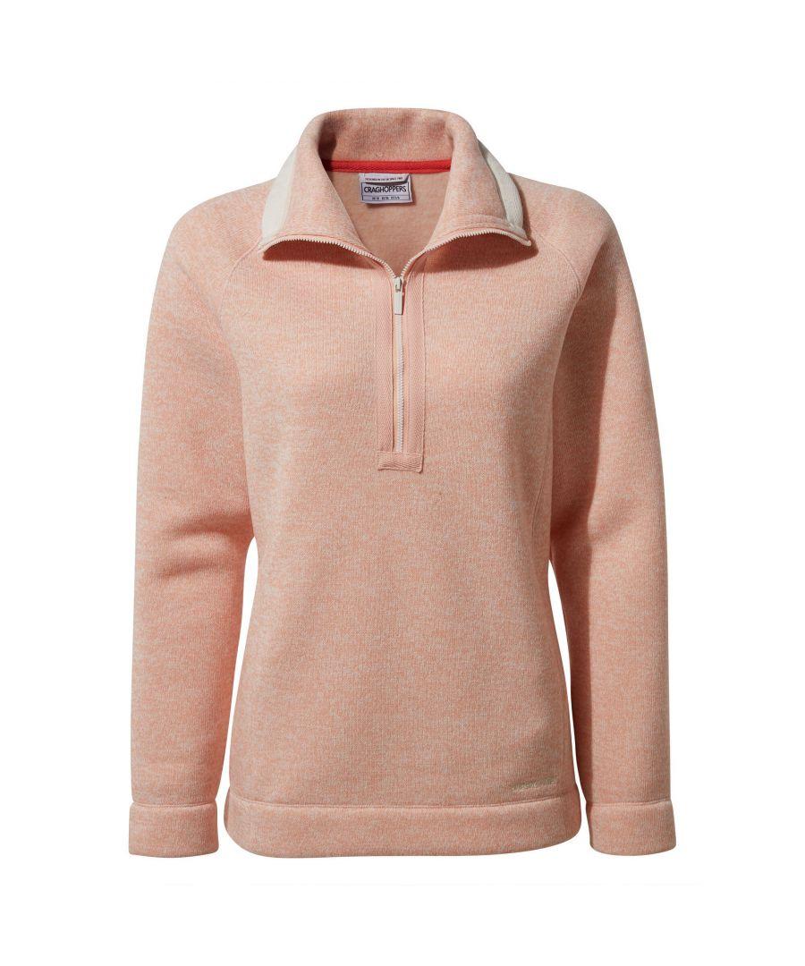 Image for Craghoppers Womens/Ladies Alphia Half Zip Fleece (Corsage Pink Marl)