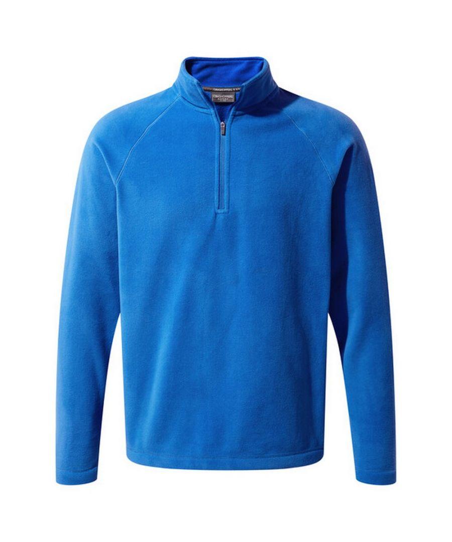 Image for Craghoppers Mens Expert Basecamp Half Zip Microfleece Top (Sport Blue)