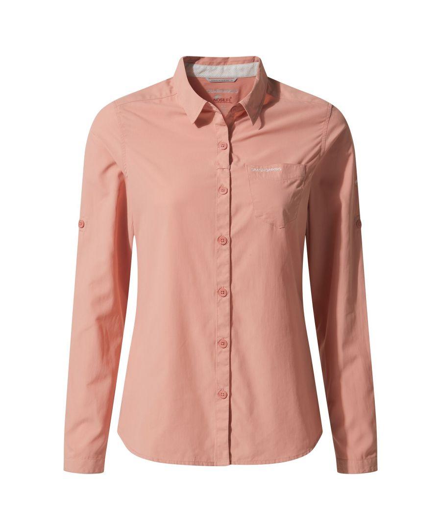 Image for Craghoppers Womens NosiLife Bardo Long Sleeved Shirt (Rosette Pink)