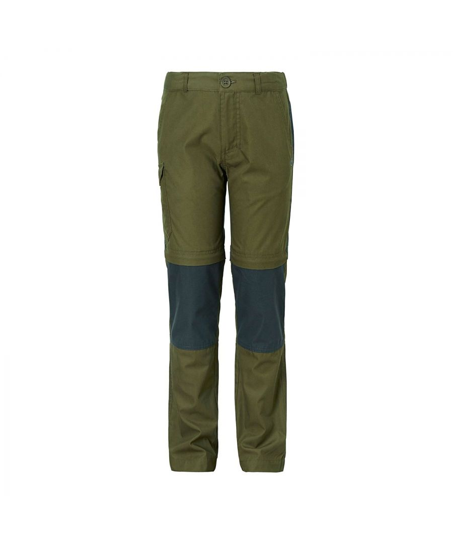 Image for Craghoppers Childrens/Kids Kiwi Convertible Trousers (Dark Moss)