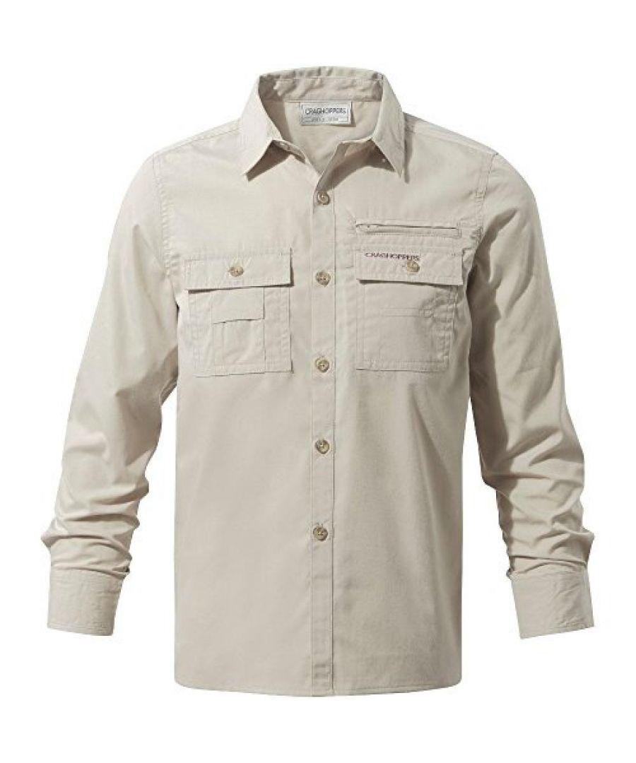 Image for Craghoppers Childrens Boys Adventure Trek Long Sleeved Shirt (Oatmeal)