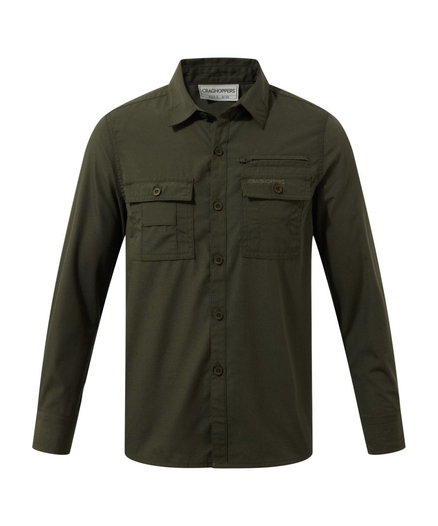 Image for Craghoppers Childrens Boys Adventure Trek Long Sleeved Shirt (Dark Khaki)