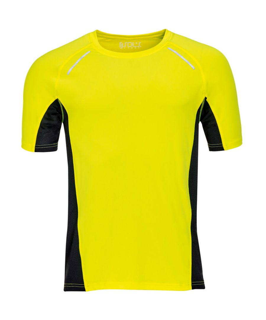 Image for SOLS Mens Sydney Reflective Running T-Shirt (Neon Yellow)