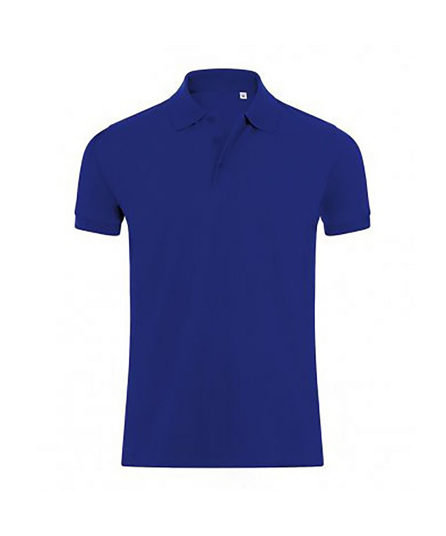 Image for SOLS Mens Phoenix Short Sleeve Pique Polo Shirt (Ultramarine)