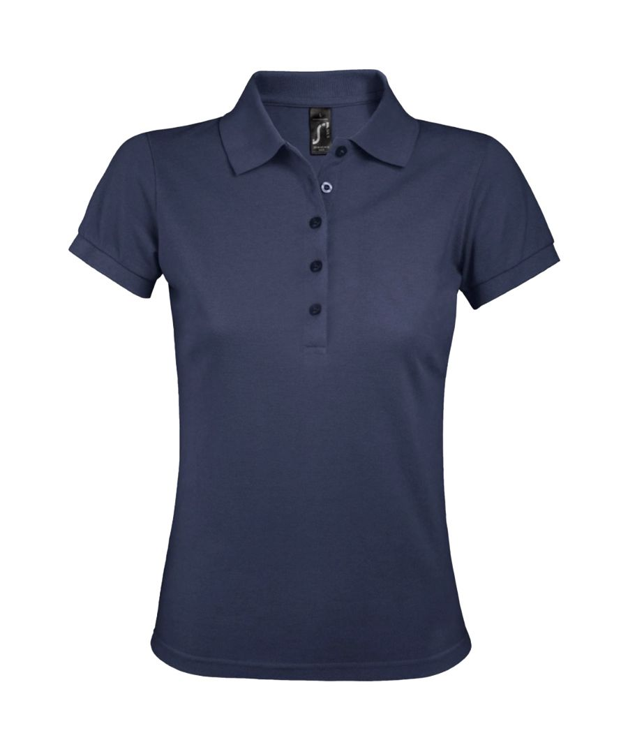 Image for SOLS Womens/Ladies Phoenix Short Sleeve Pique Polo Shirt (Heather Denim)