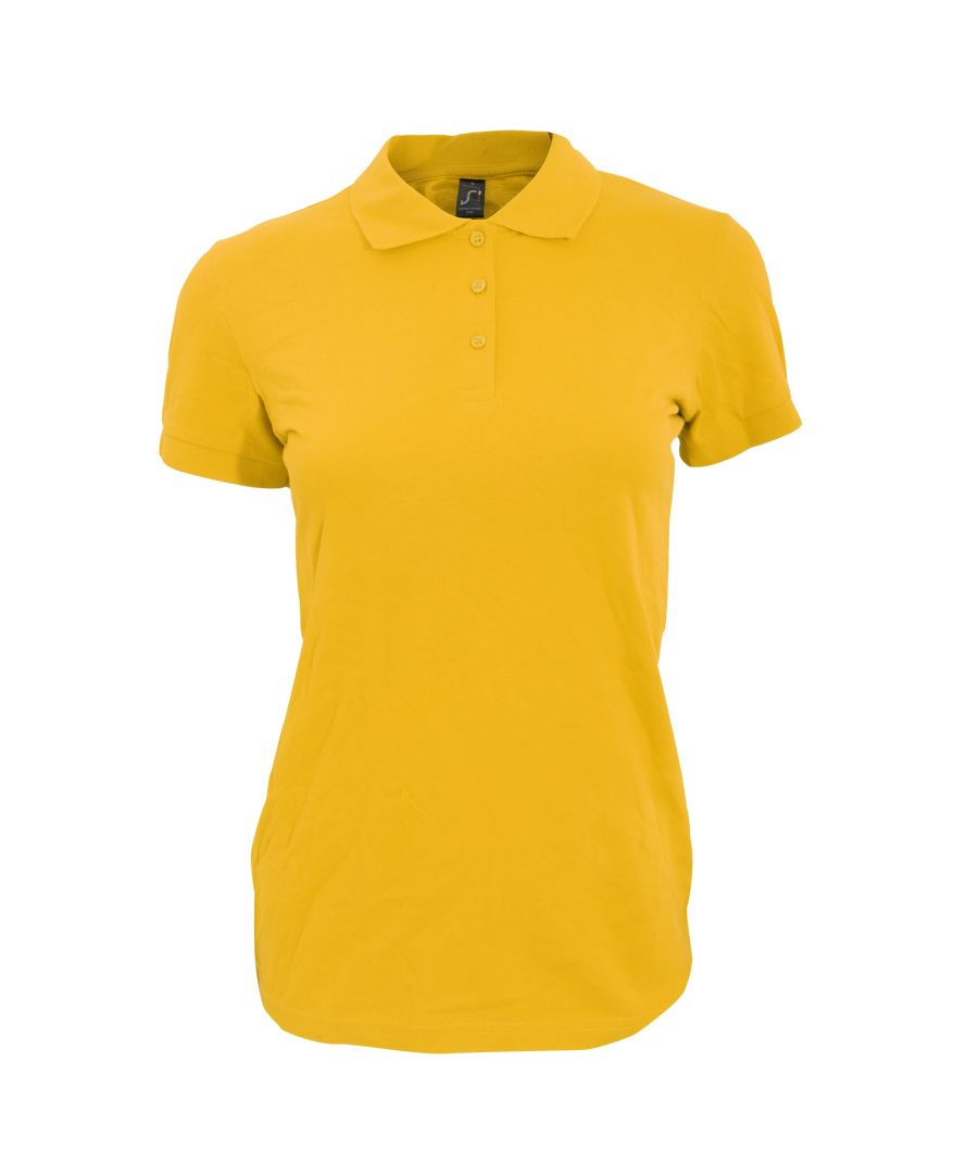 Image for SOLS Womens/Ladies Perfect Pique Short Sleeve Polo Shirt (Gold)