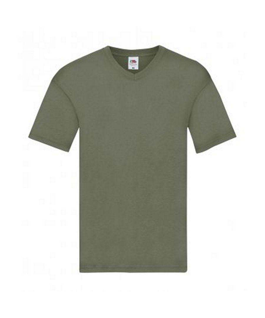 Image for Fruit Of The Loom Mens Original V Neck T-Shirt